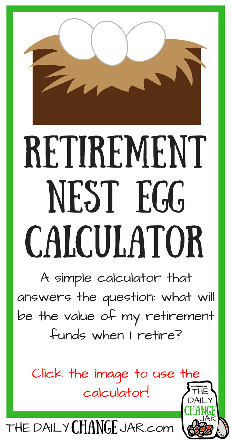 Do you know whatthe value of your retirement funds will be when you retire? Use this simple calculator to determine how much you will have stocked away in your retirement nest egg! Click the image, enter your a few stats and out pops your predictions! 401k | betterment | budget | debt | fidelity | financial independence | index funds | investing | ira | mortgage | personal capital | personal finance | real estate investing | retirement | roth ira | saving | side hustle | stock investing | student loans | vanguard | wealthfront | jobs | career | credit | bankruptcy
