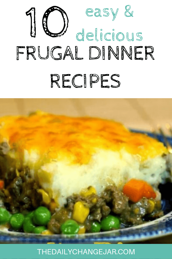 10 easy and delicious frugal dinner recipes-shepherd's pie. Food makes up a lot of our budgets. But what do you do when money is really tight? Here are 10 frugal meals to make when you're broke. #frugalmeals #frugalmealshealthy #frugalmealsforfour #frugalmealsfortwo #frugalmealsforlargefamilies #frugalmealsandsnacks #frugaldinners #frugaldinnersfamilies #frugaldinnerssavingmoney #frugaldinnersfor4 #frugaldinnersrecipes #frugaldinnersvegan