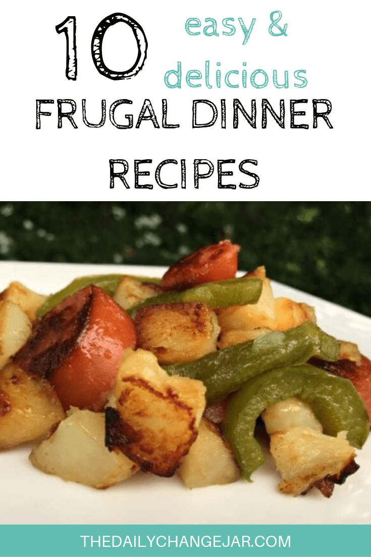 10 easy and delicious frugal dinner recipes-sausage and kielbasa. Food makes up a lot of our budgets. But what do you do when money is really tight? Here are 10 frugal meals to make when you're broke. #frugalmeals #frugalmealshealthy #frugalmealsforfour #frugalmealsfortwo #frugalmealsforlargefamilies #frugalmealsandsnacks #frugaldinners #frugaldinnersfamilies #frugaldinnerssavingmoney #frugaldinnersfor4 #frugaldinnersrecipes #frugaldinnersvegan