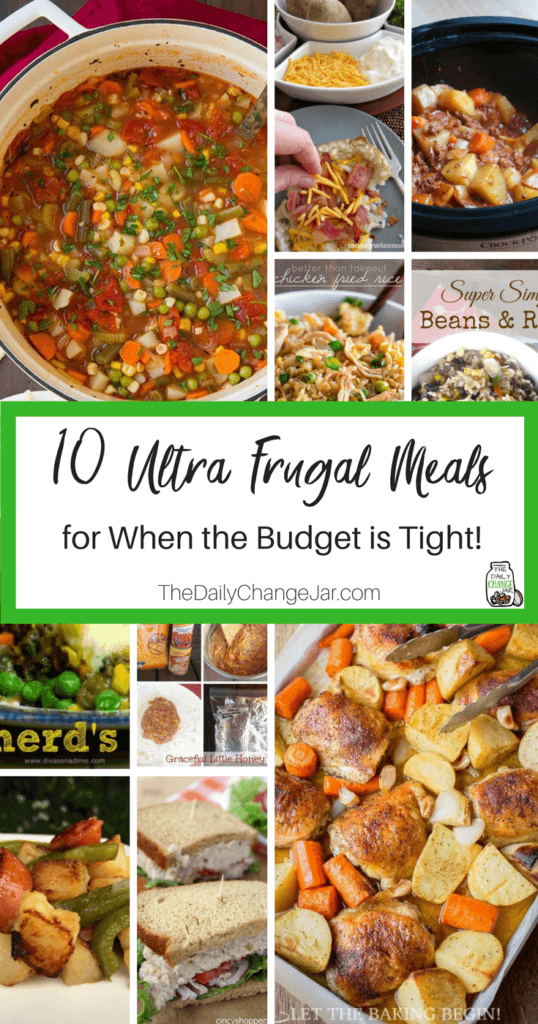 Food makes up a lot of our budgets. But what do you do when money is really tight? Here are 10 frugal meals to make when you're broke. frugal meals, frugal meals healthy, frugal meals for four, frugal meals for two, frugal meals for large families, frugal meals and snacks, frugal dinners, frugal dinners families, frugal dinners saving money, frugal dinners for 4, frugal dinners recipes, frugal dinners (vegan)