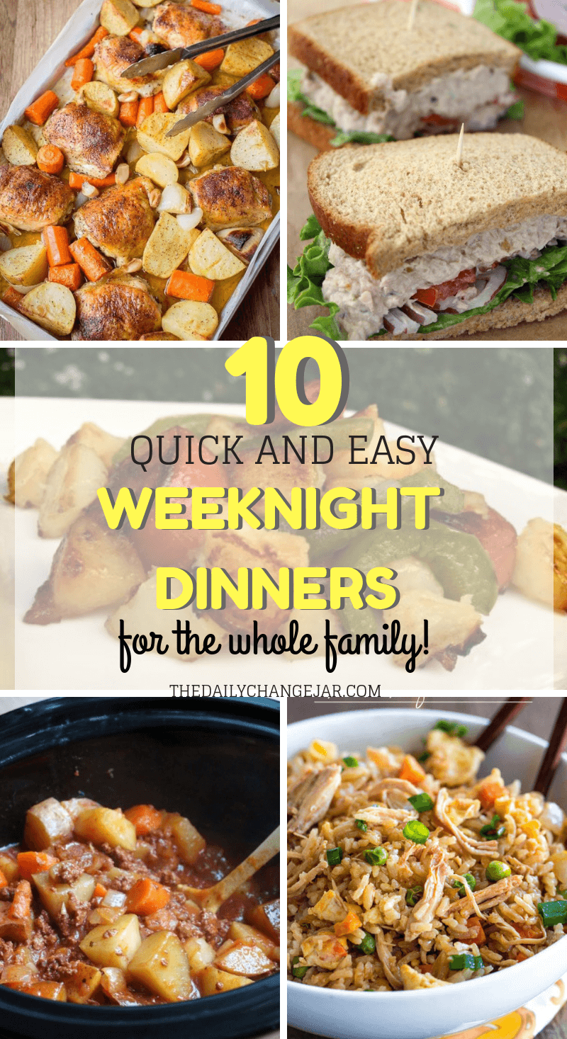 10 quick and easy weeknight dinners for the whole family. Food makes up a lot of our budgets. But what do you do when money is really tight? Here are 10 frugal meals to make when you're broke. #frugalmeals #frugalmealshealthy #frugalmealsforfour #frugalmealsfortwo #frugalmealsforlargefamilies #frugalmealsandsnacks #frugaldinners #frugaldinnersfamilies #frugaldinnerssavingmoney #frugaldinnersfor4 #frugaldinnersrecipes #frugaldinnersvegan