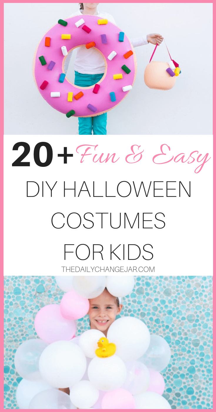 You don't have to be a seamstress to knock out an amazing and creative Halloween costume this year! These are generally kids costumes but could also be sized up to accommodate adults or group costumes as well. Click through to see all the cute no-sew Halloween costumes for kids. #halloween #costumes #DIY #nosew #halloweencostumes #nosewhalloweencostumesforkids #nosewhalloweencostumeideas #diyhalloweencostumesforkids #easydiyhalloweencostumes