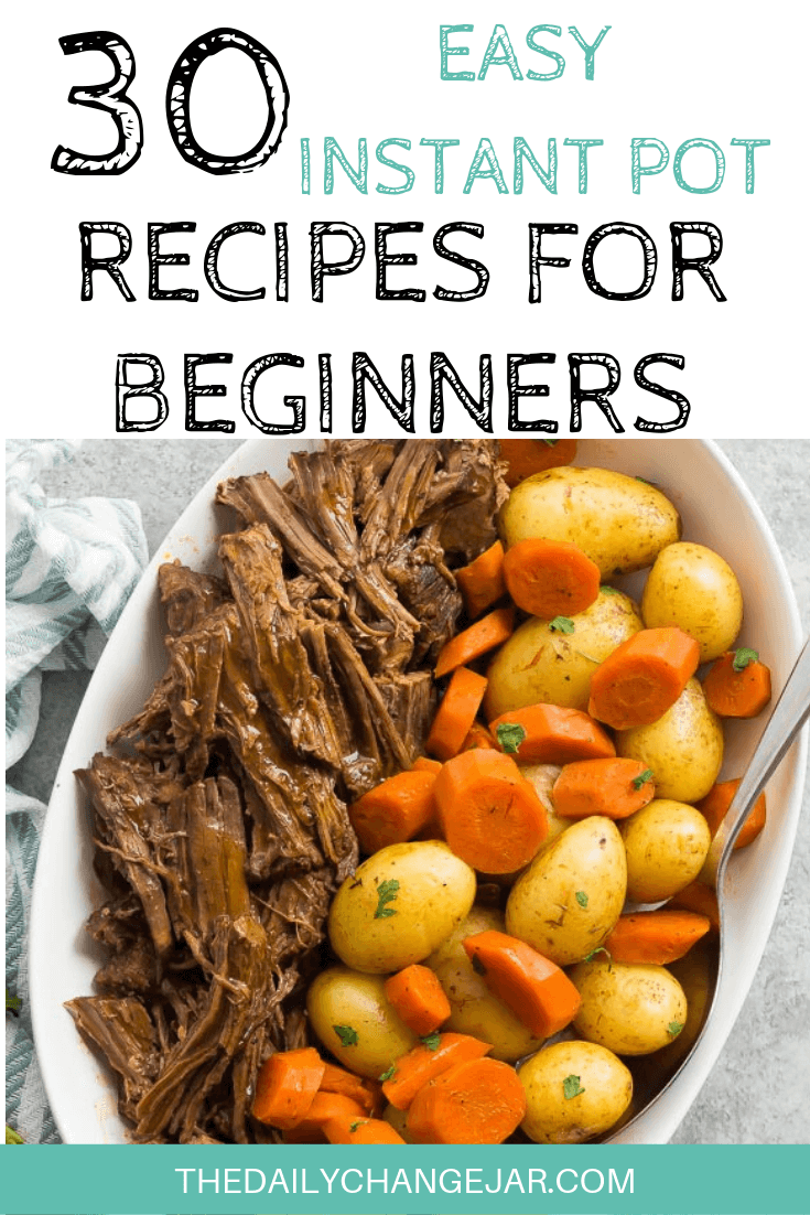 Pressure cooking is such a time-saving cooking method, many households have jumped on the Instapot bandwagon. Are considering (or have already bought) a pressure cooker? Click here to see all 30 Instant Pot recipes for beginners to get you started cooking like a pro. #instantpotrecipesforbeginners #instantpot #instantpotrecipes #pressurecooker #pressurecookerrecipes #instantpotchicken #instantpotchickenrecipes #instapotrecipes #bestinstantpotrecipes #potroast