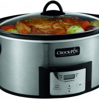 Crock-Pot 6-Quart Countdown Programmable Oval Slow Cooker with Stove-Top Browning