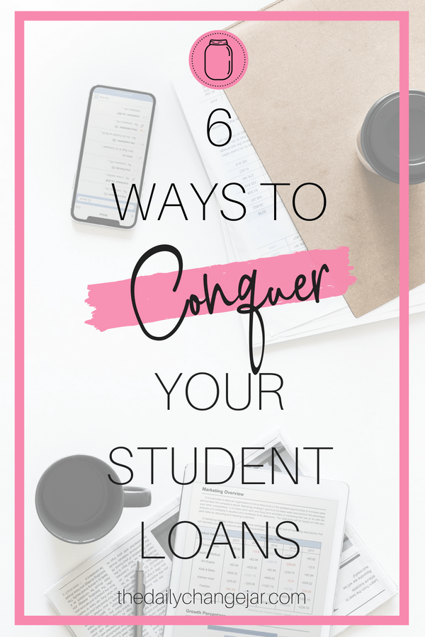 In the United States, college graduates collectively owe trillions in student loan debt. Yikes! Don't let the weight of student loan debt crush you. Here are six tips to help you conquer your student loan debt. #studentloans #studentloanspayingoff #studentloansapplying #studentloansfunny #studentloanstips #studentloansfacts #studentloanforgiveness #studentloanspayoffplan #studentloandebt