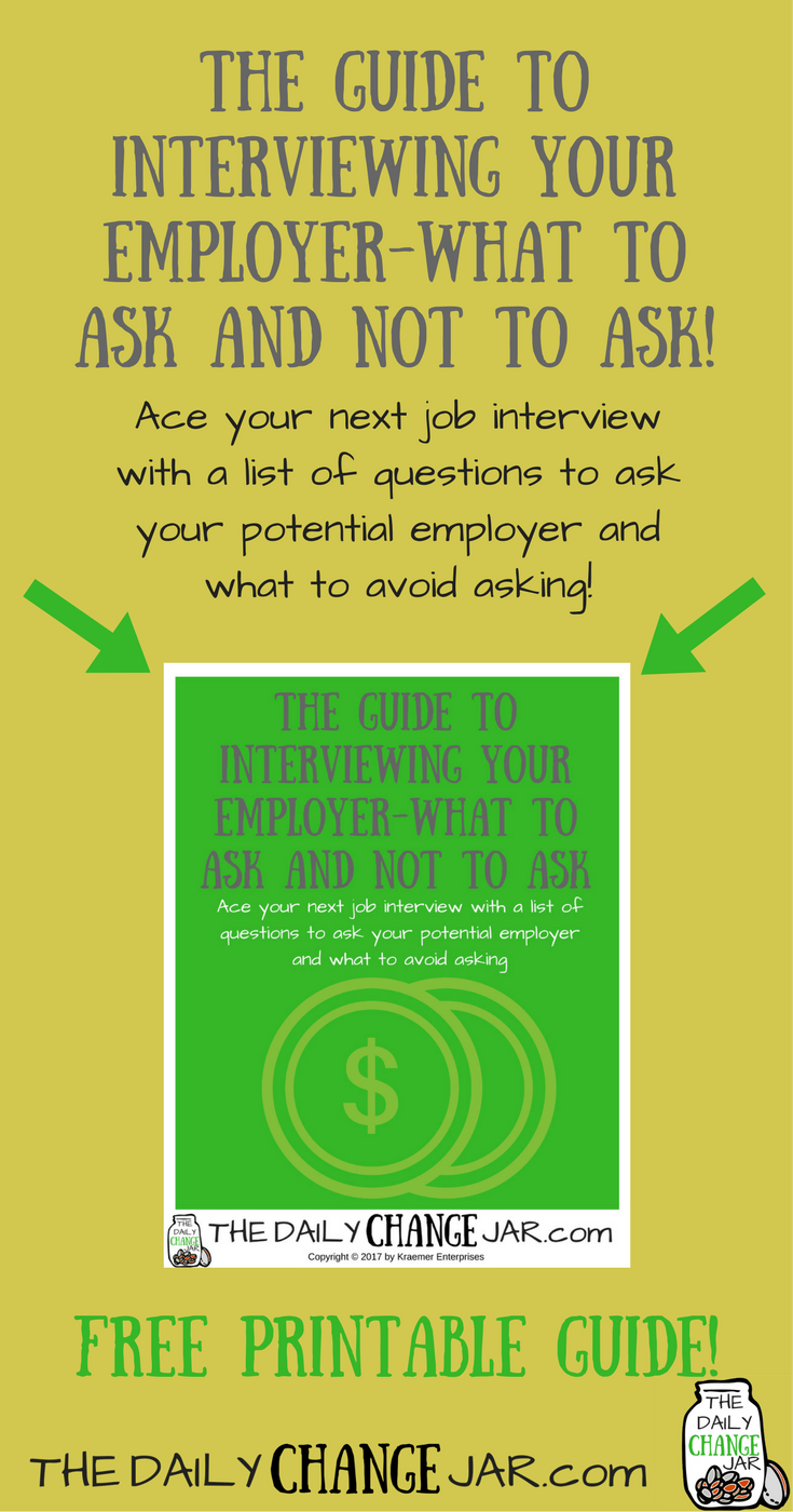 How can you interview a potential employer like a pro? In this post I review the questions to ask during an interview to score your dream job! Click here to find out the questions you should be asking and the ones you should NEVER ask! 401k | betterment | budget | debt | fidelity | financial independence | index funds | investing | ira | mortgage | personal capital | personal finance | real estate investing | retirement | roth ira | saving | side hustle | stock investing | student loans | vanguard | wealthfront | jobs | career