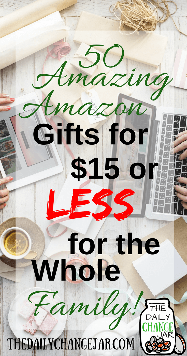 Do you need gift ideas for everyone in your family? Here is a list of 50 gift ideas for $15 or less for him, her, and the kids. Click the image to check out the list of 50 gift ideas for everyone on your list! 401k | betterment | budget | debt | fidelity | financial independence | index funds | investing | ira | mortgage | personal capital | personal finance | real estate investing | retirement | roth ira | saving | side hustle | stock investing | student loans | vanguard | wealthfront | jobs | career | credit | bankruptcy