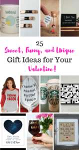 Do you love to spoil your love on Valentine's Day? You don't have to go broke to show that special someone home much you love them. Here are 25 gift ideas to show that special someone how much they mean on Valentine's Day! #valentinesday #valentine #valentineideas #valentinegiftsforhim #valentinegiftsforher #valentinetreats #valentinefood #valentinediy