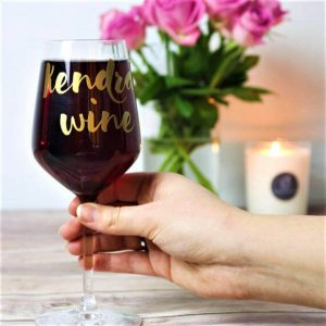 Personalised Wine Glass / Custom Wine Glass / Personalised Gift / Name Wine Glass / Gift-For-Her / Bridal Party Gift / Valentines Gift Idea