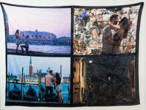 "Personalized Photo Collage Fleece Blanket. 50"" x 60"" Photo Blanket. Fleece Blanket. Collage Blanket."