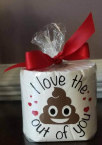 Valentine's Toilet Paper, Funny Valentine's Gift, I love the poop put of you, poop valentines, gag valentines gift, cute valentines gift
