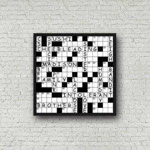 Custom Crossword Digital Print - Family Names, Descriptive Words, Etc...