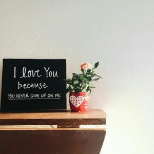 I Love You Because Chalkboard™, Chalkboard Sign, Love Sign, Chalkboard Print, Valentines Gift, Valentines Day Gift