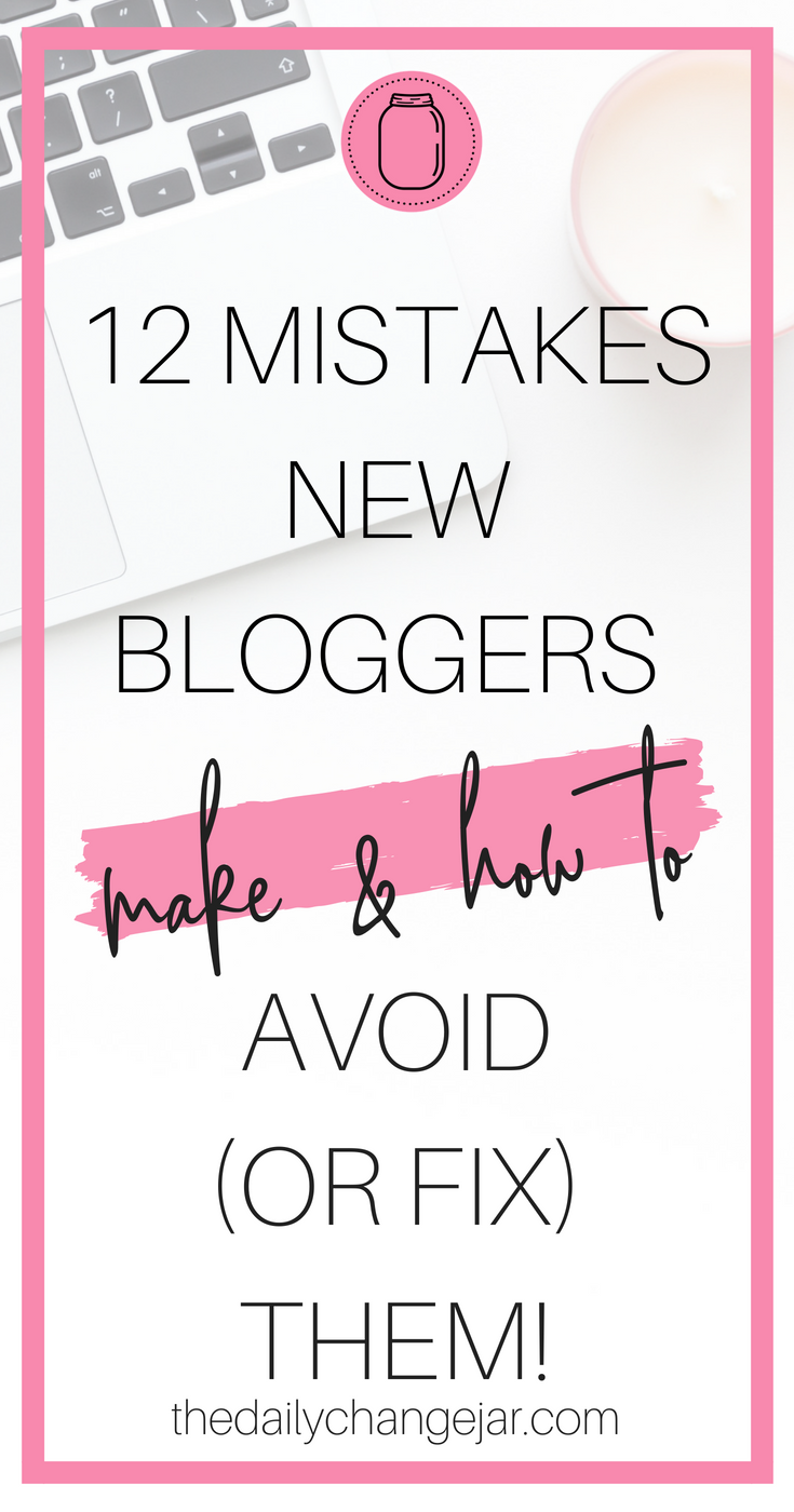 Are you a new blogger? Blogging is full of challenges. Blogging is a language all its own. The technical aspects of blogging itself are challenging to most newbies, but there is so much more. Click the image to see the 12 most common mistakes that newbie bloggers make and how you can fix or avoid them in your blog! #blogging #wordpress #bloggingmistakes
