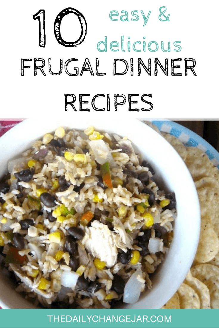 10 easy and delicious frugal dinner recipes-beans and rice. Food makes up a lot of our budgets. But what do you do when money is really tight? Here are 10 frugal meals to make when you're broke. #frugalmeals #frugalmealshealthy #frugalmealsforfour #frugalmealsfortwo #frugalmealsforlargefamilies #frugalmealsandsnacks #frugaldinners #frugaldinnersfamilies #frugaldinnerssavingmoney #frugaldinnersfor4 #frugaldinnersrecipes #frugaldinnersvegan