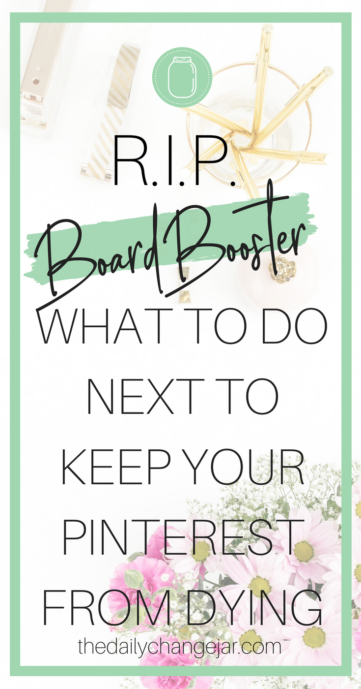 Have you heard? BoardBooster is closing its doors. Click to read why BoardBooster is shutting down and what you can do for your Pinterest account next and how to keep your traffic coming with Tailwind! #boardbooster #tailwind #pinterest #pinteresttraffic #boardboostervstailwind #boardboostertutorial #howtouseboardbooster #howtousetailwind #boardboosterstrategy #boardboostertribes #boardboostersocialmedia
