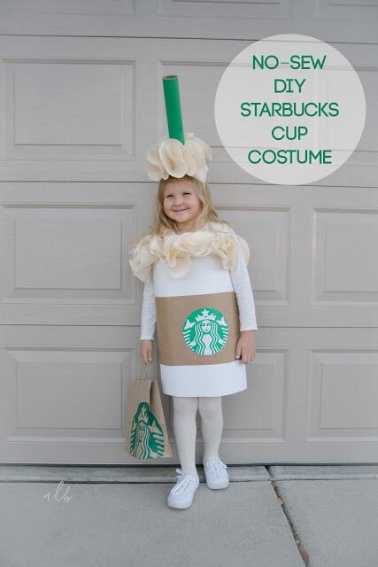 No-Sew DIY Starbucks Cup Costume