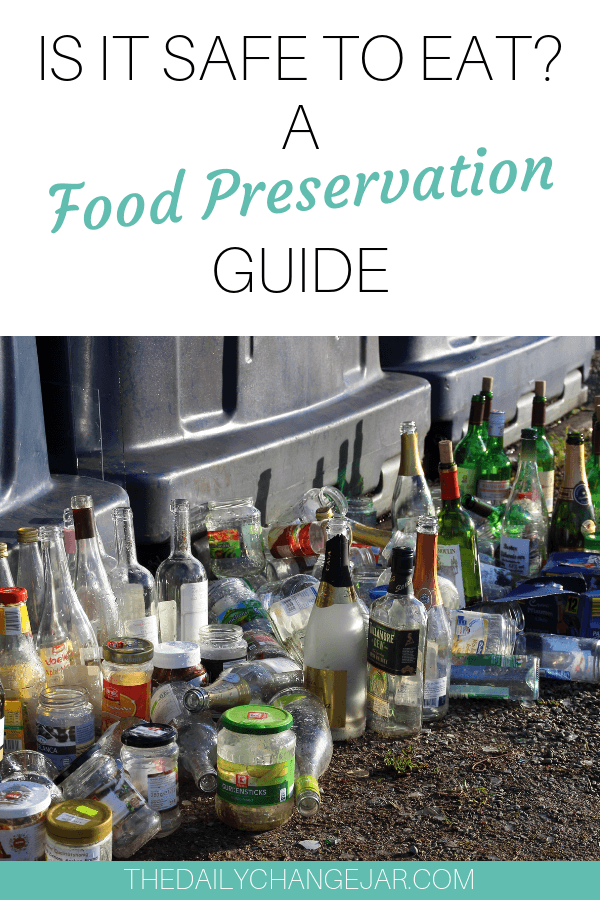 Is it safe to eat? Find out with this simple food preservation guide. Don't waste your hard earned money on food, prevent food spoilage with this handy chart! #preventfoodspoilage #savemoneyongroceries #frugalmeals #mealplanning #properfoodstorage #preventingspoilage #howtostorefruitsandvegetables