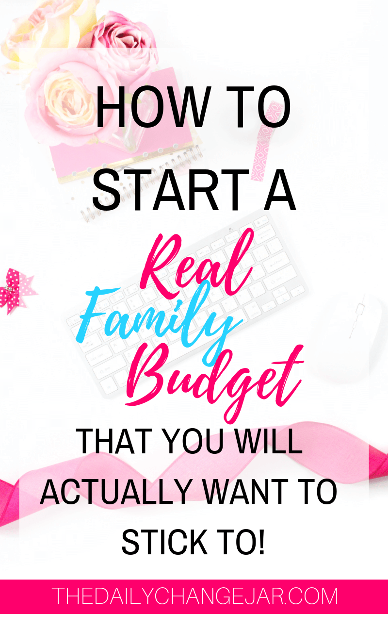 How to start a real family budget that you will actually want to stick to. Setting up a family budget doesn't have to be difficult. You have to make sure that you take a real look at what is coming and as well as what is going out. A simple plan to help you get started budgeting without a fuss, Click the image to find out how you can easily set up a budget today. #familybudgetingspreadsheet #familybudgetingprintables #familybudgetingoneincome #familybudgetingpayoffdebt #familybudgetingmeals #budgetplanner #daveramsey #budgettemplate #familybudgetingideas #familybudgetingtips