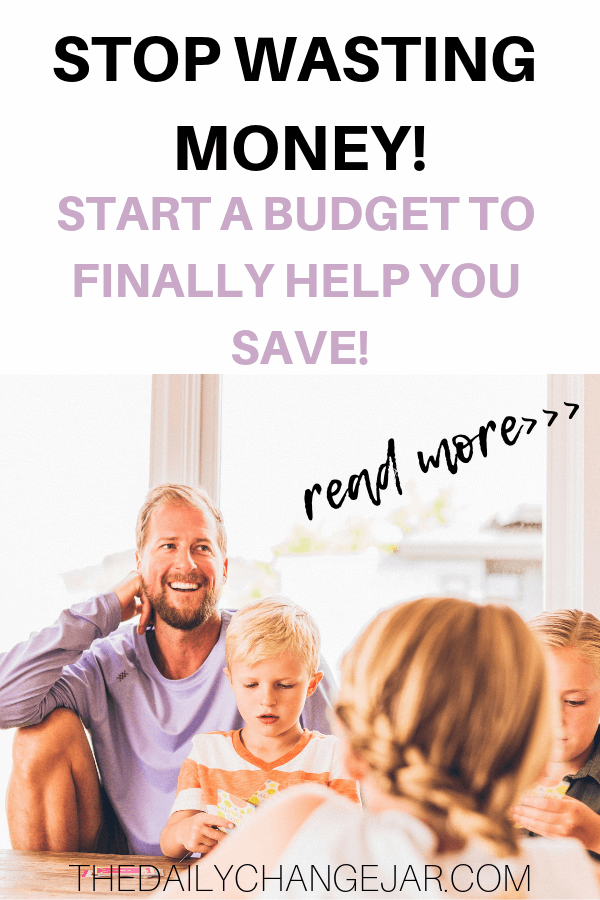 Stop wasting money start a budget to finally help you save. Setting up a family budget doesn't have to be difficult. You have to make sure that you take a real look at what is coming and as well as what is going out. A simple plan to help you get started budgeting without a fuss, Click the image to find out how you can easily set up a budget today. #familybudgetingspreadsheet #familybudgetingprintables #familybudgetingoneincome #familybudgetingpayoffdebt #familybudgetingmeals #budgetplanner #daveramsey #budgettemplate #familybudgetingideas #familybudgetingtips