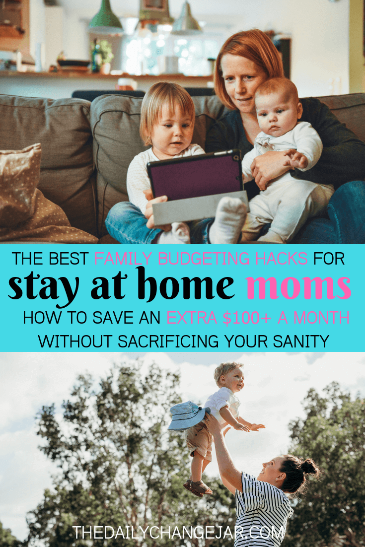 The best family budgeting hacks for stay at home moms how to save an extra $100 a month without sacrificing your sanity. Setting up a family budget doesn't have to be difficult. You have to make sure that you take a real look at what is coming and as well as what is going out. A simple plan to help you get started budgeting without a fuss, Click the image to find out how you can easily set up a budget today. #familybudgetingspreadsheet #familybudgetingprintables #familybudgetingoneincome #familybudgetingpayoffdebt #familybudgetingmeals #budgetplanner #daveramsey #budgettemplate #familybudgetingideas #familybudgetingtips