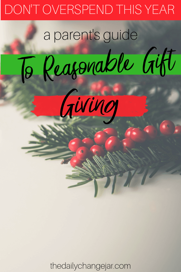don't overspend a parent's guide to reasonable gift giving. What do you give your kids for Christmas? Don't spoil them with things they will forget about in a few weeks! Click the image to read the post on the ONLY 4 things you should be getting your kids for Christmas that they will love and appreciate. #giftsforkids #christmas #giftgiving #giftchallenge #giftsforboys #giftsforgirls #4giftchallenge #christmasgifts #need #want #read #wear #needwantwearread #educationaltoys #christmasgiftsdiy