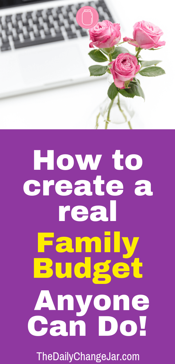 How to create a real family budget anyone can do. Setting up a family budget doesn't have to be difficult. You have to make sure that you take a real look at what is coming and as well as what is going out. A simple plan to help you get started budgeting without a fuss, Click the image to find out how you can easily set up a budget today. #familybudgetingspreadsheet #familybudgetingprintables #familybudgetingoneincome #familybudgetingpayoffdebt #familybudgetingmeals #budgetplanner #daveramsey #budgettemplate #familybudgetingideas #familybudgetingtips