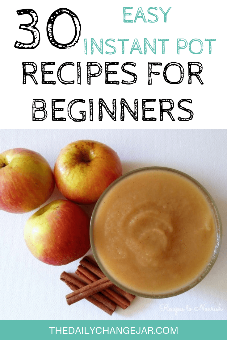 Pressure cooking is such a time-saving cooking method, many households have jumped on the Instapot bandwagon. Are considering (or have already bought) a pressure cooker? Click here to see all 30 Instant Pot recipes for beginners to get you started cooking like a pro. #instantpotrecipesforbeginners #instantpot #instantpotrecipes #pressurecooker #pressurecookerrecipes #instantpotchicken #instantpotchickenrecipes #instapotrecipes #bestinstantpotrecipes #applesauce