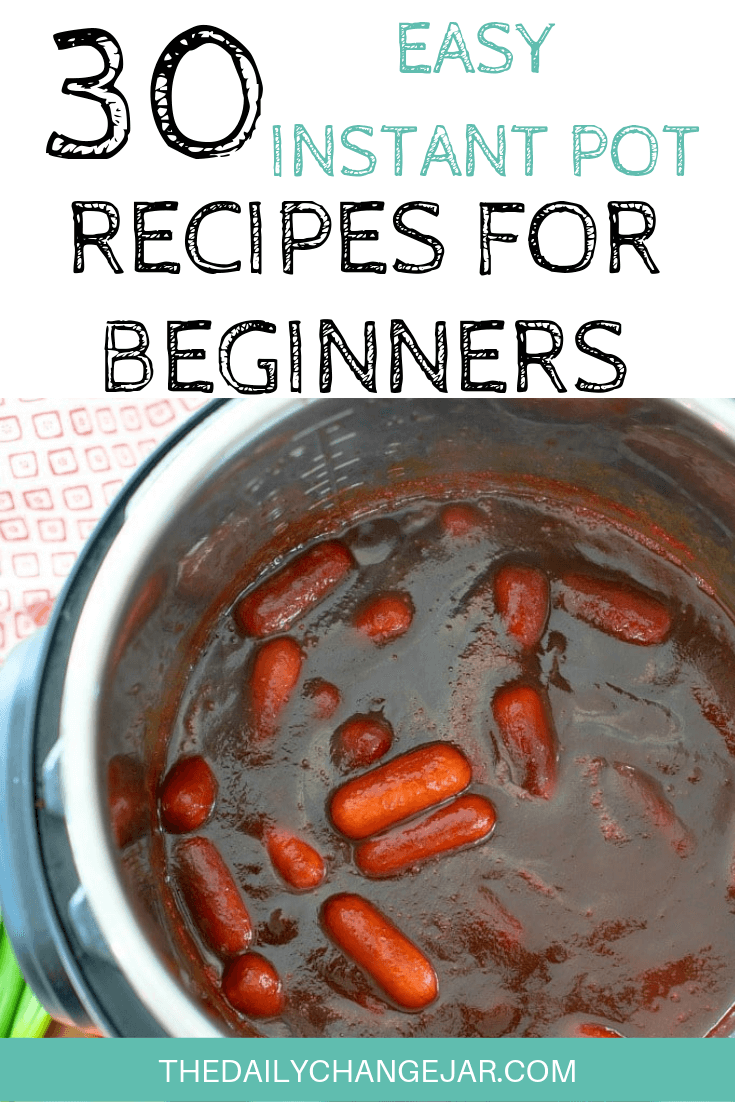 Pressure cooking is such a time-saving cooking method, many households have jumped on the Instapot bandwagon. Are considering (or have already bought) a pressure cooker? Click here to see all 30 Instant Pot recipes for beginners to get you started cooking like a pro. #instantpotrecipesforbeginners #instantpot #instantpotrecipes #pressurecooker #pressurecookerrecipes #instantpotchicken #instantpotchickenrecipes #instapotrecipes #bestinstantpotrecipes #cocktailweenies