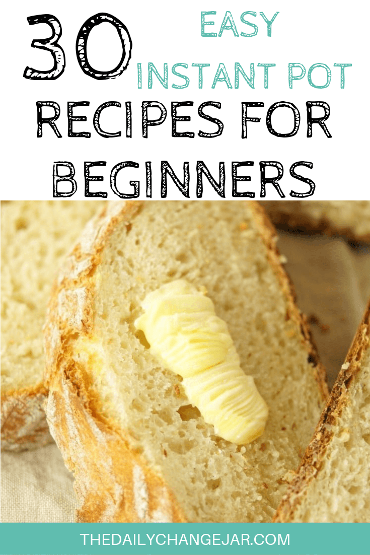 Pressure cooking is such a time-saving cooking method, many households have jumped on the Instapot bandwagon. Are considering (or have already bought) a pressure cooker? Click here to see all 30 Instant Pot recipes for beginners to get you started cooking like a pro. #instantpotrecipesforbeginners #instantpot #instantpotrecipes #pressurecooker #pressurecookerrecipes #instantpotchicken #instantpotchickenrecipes #instapotrecipes #bestinstantpotrecipes #bread