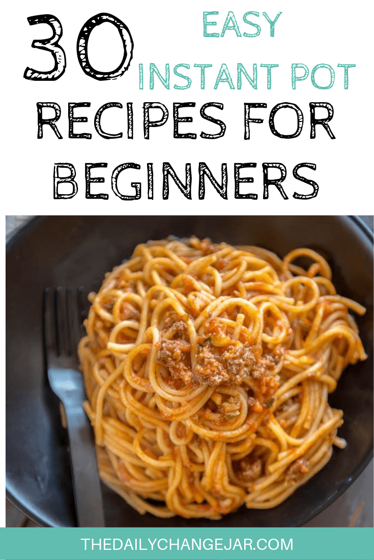 Pressure cooking is such a time-saving cooking method, many households have jumped on the Instapot bandwagon. Are considering (or have already bought) a pressure cooker? Click here to see all 30 Instant Pot recipes for beginners to get you started cooking like a pro. #instantpotrecipesforbeginners #instantpot #instantpotrecipes #pressurecooker #pressurecookerrecipes #instantpotchicken #instantpotchickenrecipes #instapotrecipes #bestinstantpotrecipes #spaghetti