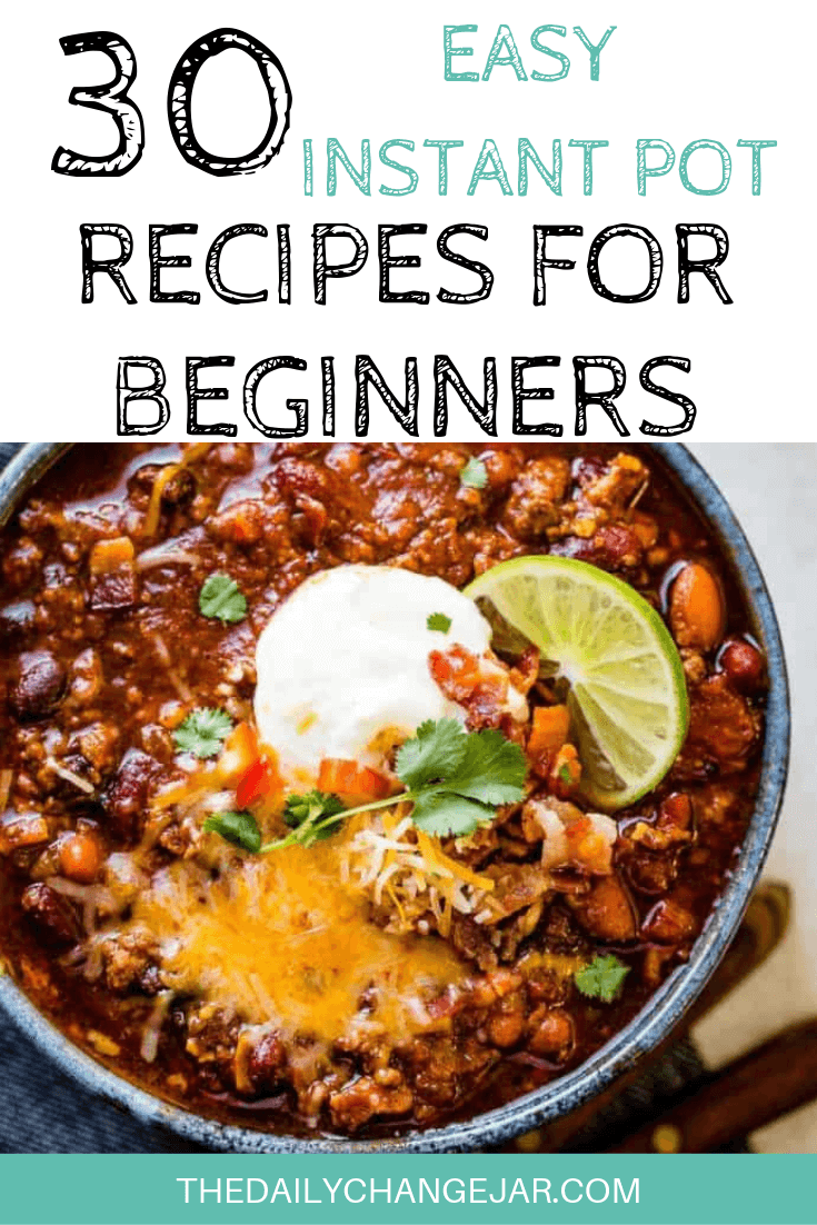 Pressure cooking is such a time-saving cooking method, many households have jumped on the Instapot bandwagon. Are considering (or have already bought) a pressure cooker? Click here to see all 30 Instant Pot recipes for beginners to get you started cooking like a pro. #instantpotrecipesforbeginners #instantpot #instantpotrecipes #pressurecooker #pressurecookerrecipes #instantpotchicken #instantpotchickenrecipes #instapotrecipes #bestinstantpotrecipes #chili