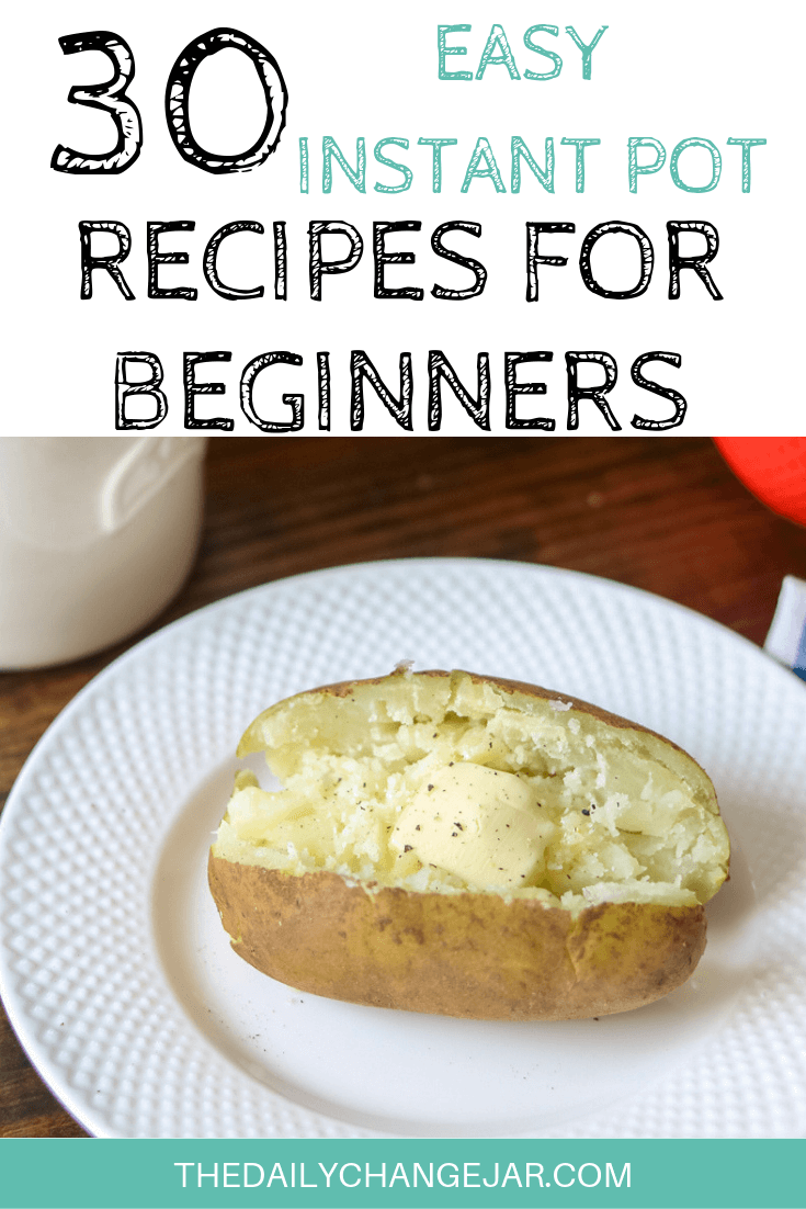 Pressure cooking is such a time-saving cooking method, many households have jumped on the Instapot bandwagon. Are considering (or have already bought) a pressure cooker? Click here to see all 30 Instant Pot recipes for beginners to get you started cooking like a pro. #instantpotrecipesforbeginners #instantpot #instantpotrecipes #pressurecooker #pressurecookerrecipes #instantpotchicken #instantpotchickenrecipes #instapotrecipes #bestinstantpotrecipes #bakedpotato