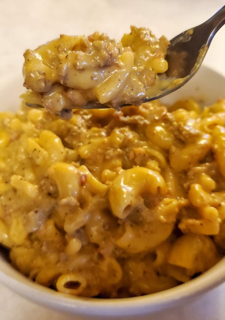 Almost Homemade Bacon Cheeseburger Hamburger Helper