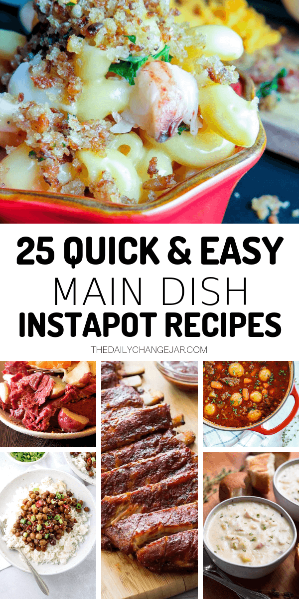 Short on time to make dinner? With a few key kitchen staples, you can whip up these easy Instant Pot dinners in no time! Click to see which 25 of these easy recipes you can make tonight! #instantpotdinnerseasy #howtoinstantpotrecipes #instantpotrecipesforbeginners #instantpotrecipesthatarekidfriendly #instantpotrecipestotryfirst #instantpotrecipesdinner #instantpotrecipesdump #instantpotrecipesonepot #instantpotrecipesonabudget #instantpotrecipesmaindish #instantpotrecipesofficial #quickandeasyrecipesShort on time to make dinner? With a few key kitchen staples, you can whip up these easy Instant Pot dinners in no time! Click to see which 25 of these easy recipes you can make tonight! #instantpotdinnerseasy #howtoinstantpotrecipes #instantpotrecipesforbeginners #instantpotrecipesthatarekidfriendly #instantpotrecipestotryfirst #instantpotrecipesdinner #instantpotrecipesdump #instantpotrecipesonepot #instantpotrecipesonabudget #instantpotrecipesmaindish #instantpotrecipesofficial #quickandeasyrecipes