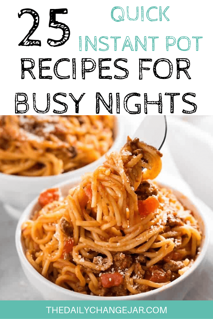 Short on time to make dinner? With a few key kitchen staples, you can whip up these easy Instant Pot dinners in no time! Click to see which 25 of these easy recipes you can make tonight! #instantpotdinnerseasy #howtoinstantpotrecipes #instantpotrecipesforbeginners #instantpotrecipesthatarekidfriendly #instantpotspaghetti #instantpotrecipesdinner #instantpotrecipesdump #instantpotrecipesonepot #instantpotrecipesonabudget #instantpotrecipesmaindish #instantpotrecipesofficial #quickandeasyrecipes