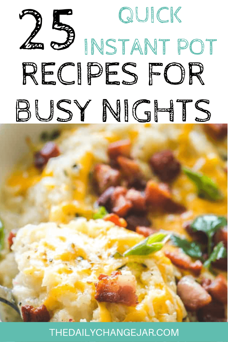 Short on time to make dinner? With a few key kitchen staples, you can whip up these easy Instant Pot dinners in no time! Click to see which 25 of these easy recipes you can make tonight! #instantpotdinnerseasy #howtoinstantpotrecipes #instantpotrecipesforbeginners #instantpotrecipesthatarekidfriendly #instantpotketo #loadedcauliflower #instantpotrecipesdinner #instantpotrecipesdump #instantpotrecipesonepot #instantpotrecipesonabudget #instantpotrecipesmaindish #instantpotrecipesofficial #quickandeasyrecipes