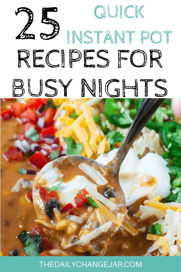 Short on time to make dinner? With a few key kitchen staples, you can whip up these easy Instant Pot dinners in no time! Click to see which 25 of these easy recipes you can make tonight! #instantpotdinnerseasy #howtoinstantpotrecipes #instantpotrecipesforbeginners #instantpotrecipesthatarekidfriendly #instantpotsouprecipes #lentils #instantpotrecipesdinner #instantpotrecipesdump #instantpotrecipesonepot #instantpotrecipesonabudget #instantpotrecipesmaindish #instantpotrecipesofficial #quickandeasyrecipes