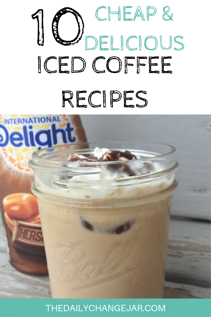Save money by making your own iced coffee or frappes at home! These homemade iced and blended coffee recipes are not only easy, but you control the ingredients and can make healthy versions. #icedcoffeerecipe #easyicedcoffeerecipes #homemadeicedcoffeerecipes #starbucksicedcoffeerecipes #keurig #caramel #vanilla #pioneerwoman #instanticedcoffeerecipe