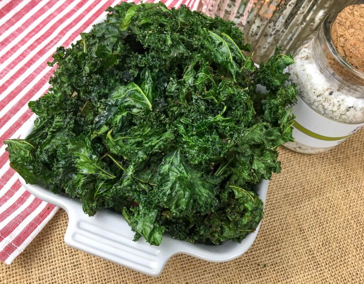 Crispy Kale Chips (Keto/Gluten-Free/Vegan Friendly)