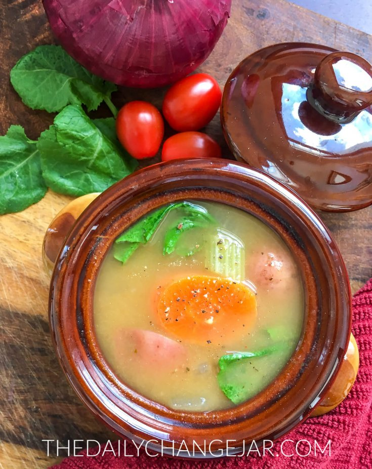This delicious and easy soup recipe can be adapted countless ways to incorporate whatever fresh vegetables and herbs you have available. Be sure to add a splash of fresh lime juice right before serving to brighten the flavors.