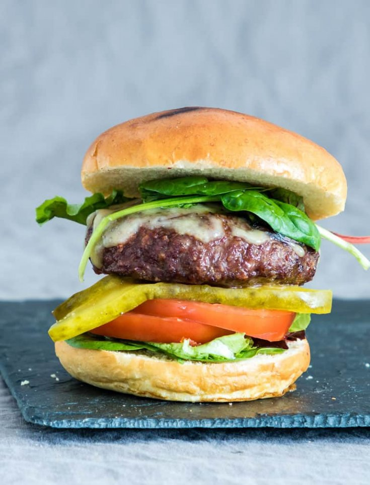 Juicy Air Fryer Hamburgers + Grill Version & Video {Gluten-free}