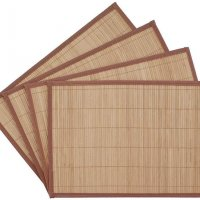 Set of 4 Enviornamental Friendly Bamboo Placemats