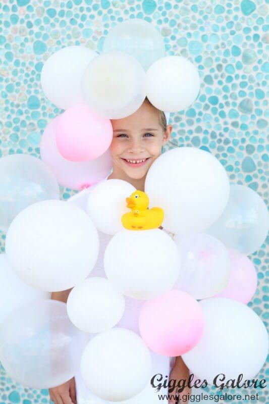 DIY Bubble Bath Halloween Costume