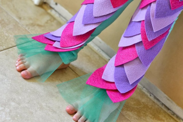 DIY Mermaid Leggings