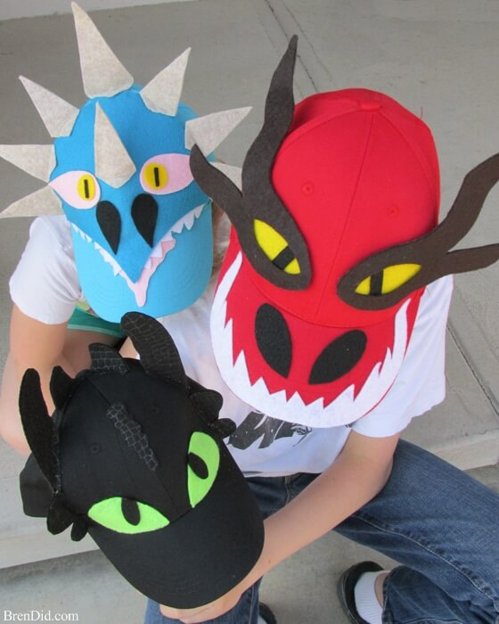 How to Train Your Dragon Easy Baseball Hat DIY with Printable Pattern