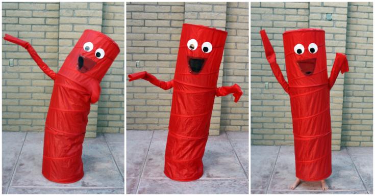 Easy Inflatable Tube Man Costume