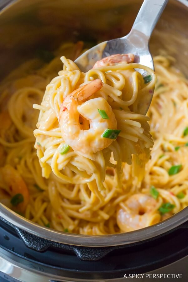 Easy Instant Pot Bang Bang Shrimp Pasta