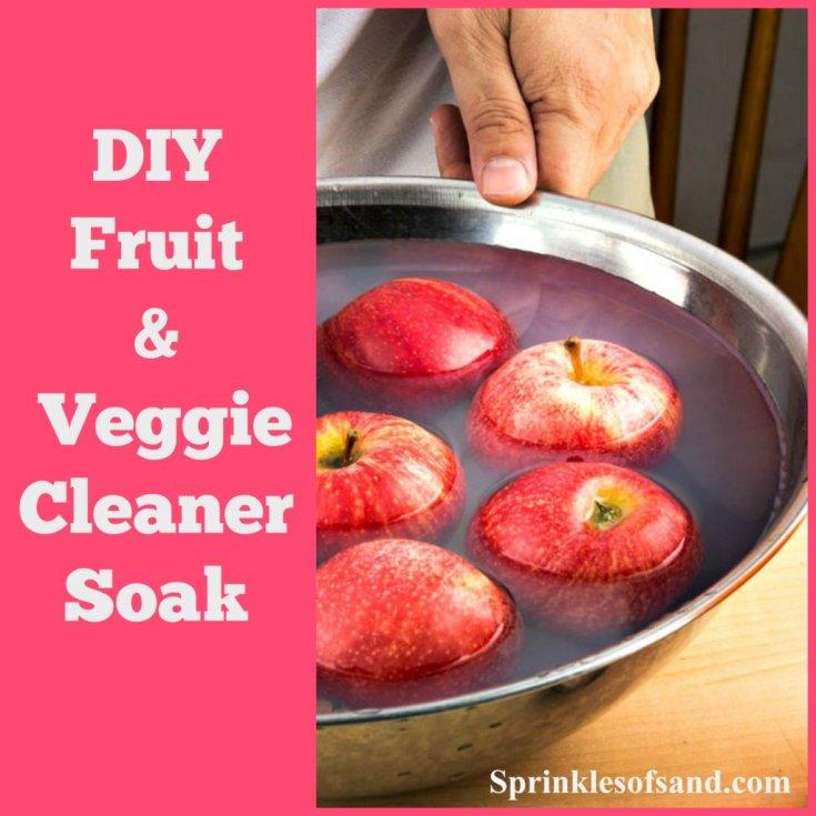DIY Fruit & Veggie Cleaner Soak